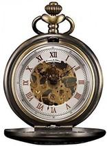 KS Men's Bronze Skeleton Hand-Winding Mechanical Analog Pocket Watch + Chain - $209.84