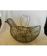 Silver Metal Wire Duck or Hen Egg Basket with Handles - $29.70