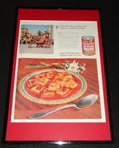 1955 Chef Boyardee Ravioli Framed 11x17 ORIGINAL Advertising Display - $55.74