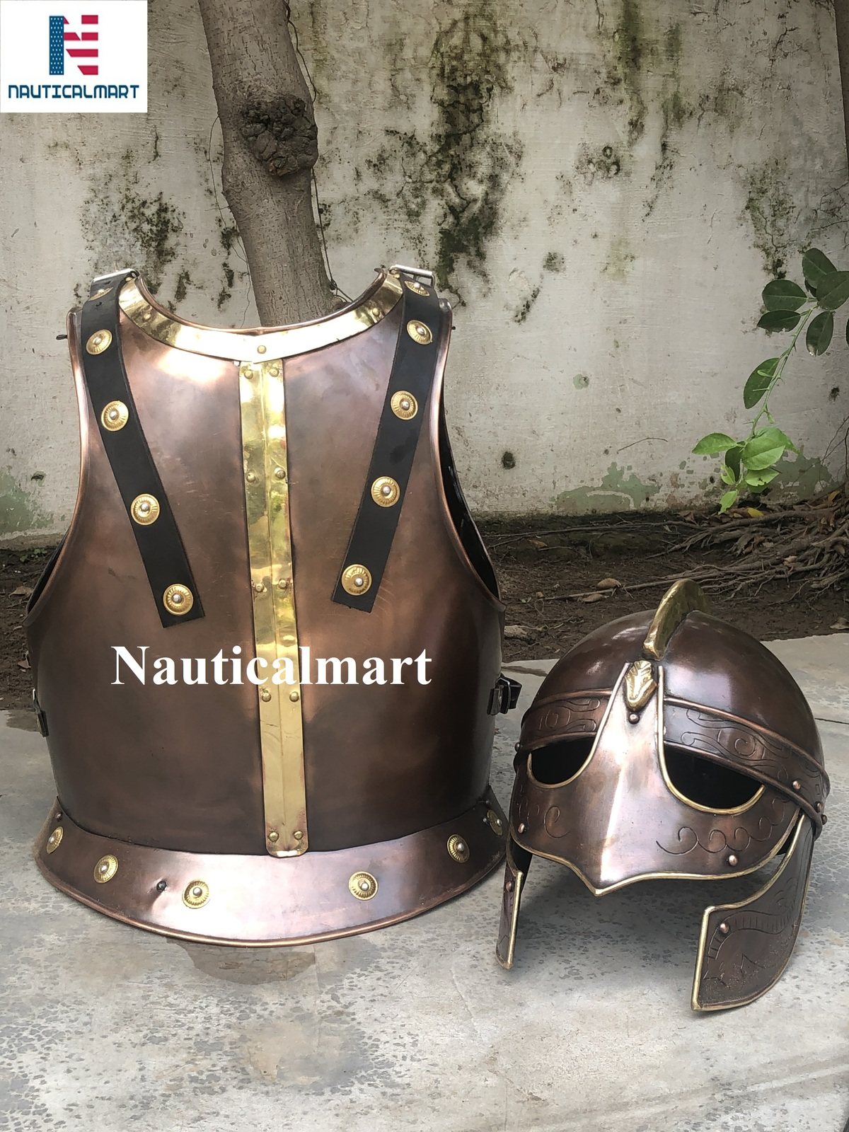 Primary image for Nauticalmart Halloween Armor Breastplate With Valsgrade Helmet In Copper