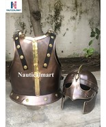 Nauticalmart Halloween Armor Breastplate With Valsgrade Helmet In Copper - $399.00