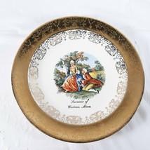 Wadena Minnesota Souvenir Plate Vintage Sabin Crest O Gold - $14.00