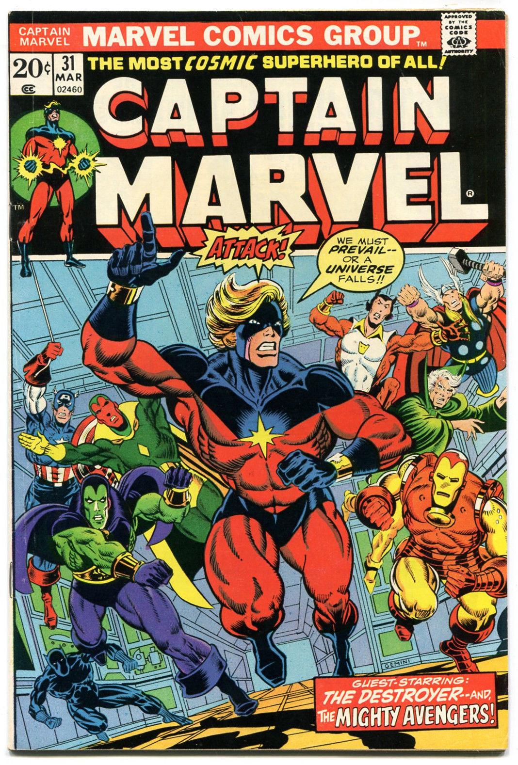 CAPTAIN MARVEL 31 NM 9.2 1973 Marvel Jim Starlin Avengers Thanos Death