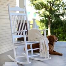 Outdoor Cottage White Country Porch Rocking Chair Rocker Patio Garden Fu... - $188.05
