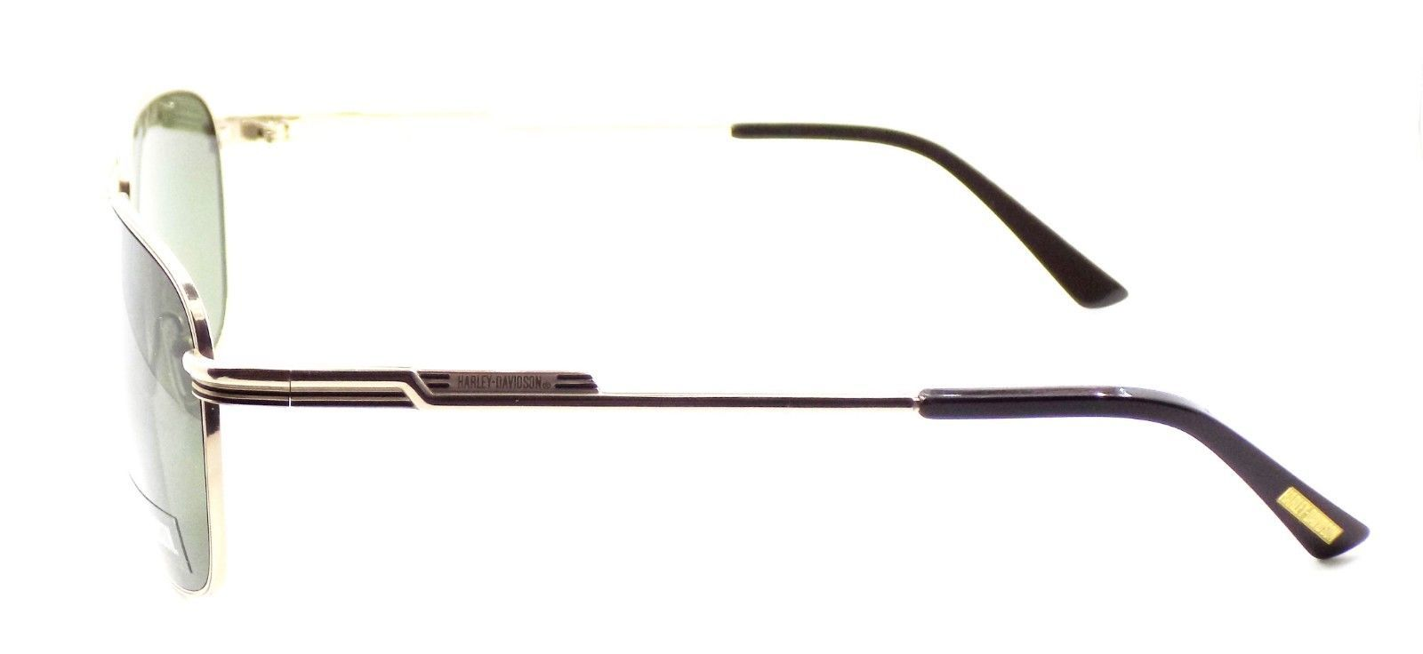Harley Davidson HDX876 GLD-2 Aviator Sunglasses TITANIUM Gold 59-15-140 Gray