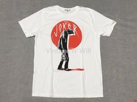 Junk Food USA Mens M The Joker White/ Red Villain Movie DC Comic Batman T-Shirt - $24.99