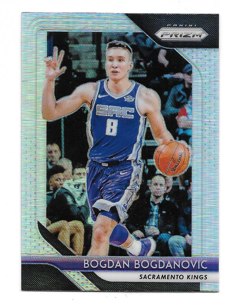 2018-19 Panini Prizm Bogdan Bogdanovic Silver Prizm Refractor Parallel Card #161