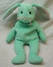 """Ty Beanie Baby Mint Green Hippity Bunny 8"""" Stuffed Animal Toy 1996 - $14.85"""