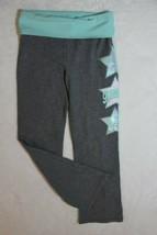 Justice Girls Pants Sz 8 Gray Gymnast Star Sequin Yoga Dance Gym Casual ... - $17.81