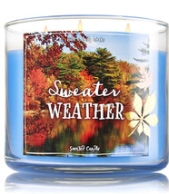 Bath & Body Works Sweater Weather Three Wick 14.5 Ounces Scented Candle - $20.53