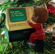 Vintage Computer Hallmark Keepsake Christmas Tree Ornament Letter to San... - $12.13