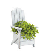 Planter Boxes, Contemporary Outdoor Planters, Decorative White Chair Pla... - $39.08