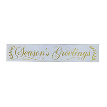 Darice Seasons Greetings Sign: Glitter, 28 x 5.12 inches w - $16.99