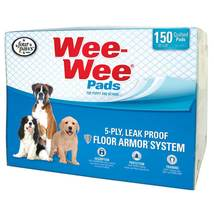 """Four Paws Wee-Wee Pads 150 pack White 22"""" x 23"""" x 0.1"""" - $43.99"""