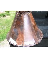 Rustic cowhide leather lamp shade 0265 1 thumbtall