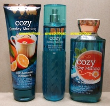 Cozy Sunday Morning Bath Body Works Fine Fragrance Mist Body Cream Showe... - $55.00