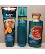 Cozy Sunday Morning Bath Body Works Fine Fragrance Mist Body Cream Showe... - $55.00