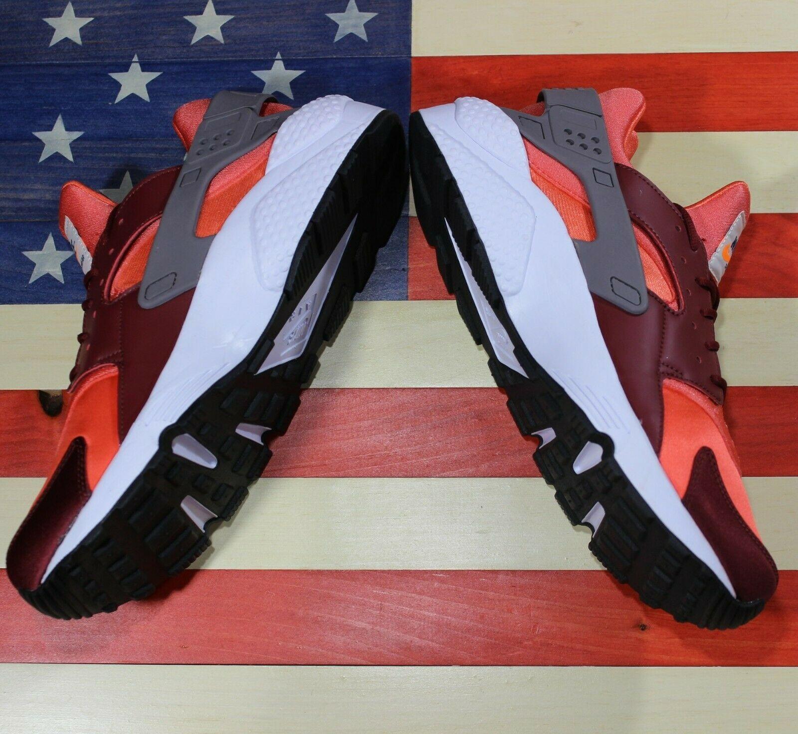 Nike Air Huarache Run Running Shoes Team Red Coral White [318429-054] Men's 11.5 image 8