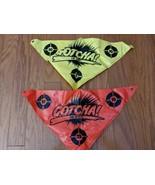 Lot 2 Flags Red Yellow Replacement Entertech GOTCHA Gun Paintball Game Flag - $14.01