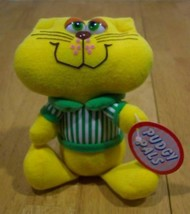 Russ Vintage Pudgy Pals Yellow Cat Stuffed Animal New - $15.35