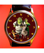 VINTAGE 2001 SHREK FIONA DONKEY COMIC ART WRIST WATCH IN MINT CONDITION;... - $89.99
