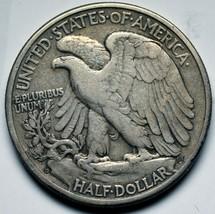1938D Walking Liberty Half Dollar 90% Silver Coin Lot# A 227 image 2