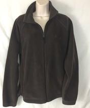 Columbia Brown Full Zip Up Fleece Jacket Long Sleeve Women's Size Medium M - $16.71