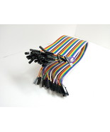 39 Pack 30cm 12'' Row 2.54mm Female Female Dupont Cable Jumper Wire PC A... - $10.69