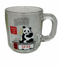McDonald's Toledo Zoo Panda  Le-Le 1988 Glass Mug Vintage - $12.86