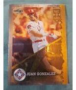 1995 Score Hall of Gold #HG58 Juan Gonzalez Texas Rangers Baseball Card - $1.00