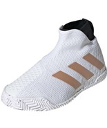 adidas Stycon Women's Tennis Shoes White Racket Racquet No Lace FY2946 Size 10 - $110.00