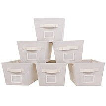 MustQ Storage Cubes Bins Baskets Containers with Dual Handles,Flodable,S... - $25.84