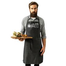 Funny Novelty Apron Kitchen Cooking - Eat Sleep Row - $11.88+