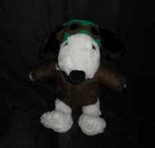 Build A Bear P EAN Uts Flying Ace Musical Snoopy Aviator Stuffed Animal Plush Babw - $43.53
