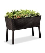 Keter Easy Grow Patio Garden Flower Plant Planter Raised Elevated Garden... - £84.83 GBP