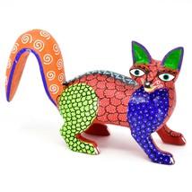 Handmade Alebrijes Oaxacan Copal Wood Carving Painted Folk Art Fox Figurine image 1