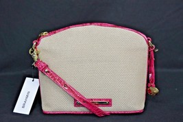 NWT Brahmin Mini Duxbury Shoulder Bag in Punch Harbor, Pink Leather/Beig... - $179.00