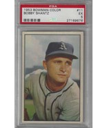 1953 Bowman Color #11 Bobby Shantz PSA 5 Red Sox PRESENTS BETTER - $23.23