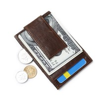 HYHZ Men's 100% Full Grain Leather Wallet With 1 Card Holder,packed in a box … - $17.17