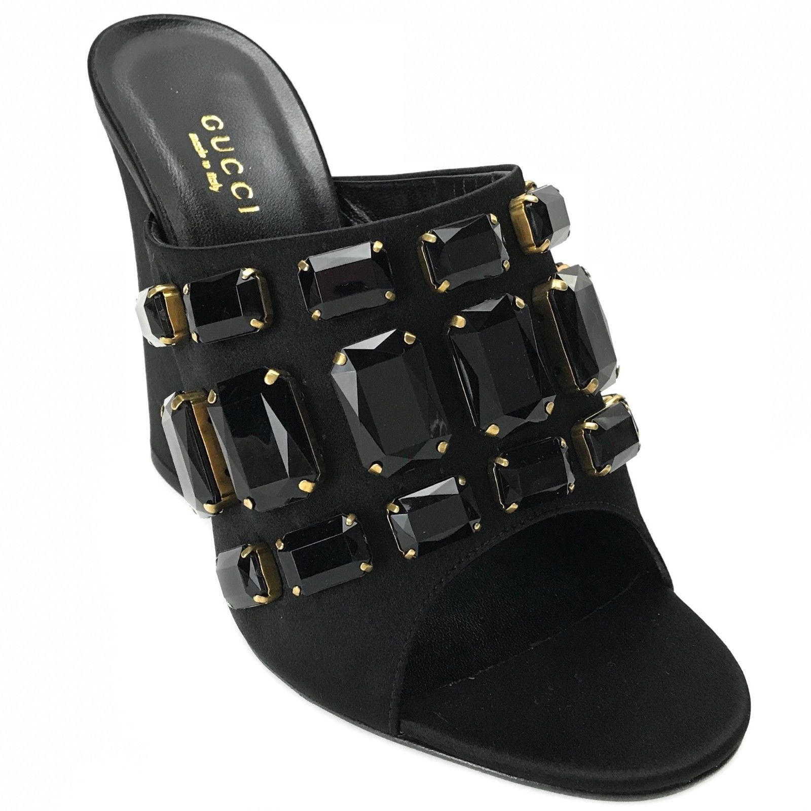 a8c58029dc2 GUCCI 408307 Tessa Satin Sandals with and 50 similar items. 57