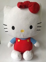"Hello Kitty Plush Sanrio 2011 18"" sitting Large  - $10.69"