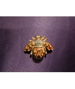 Rare Joan Rivers Crystal Pearl Lily of the Valley Bee Pin Brooch - $49.50