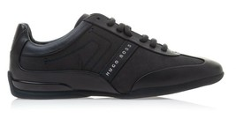 Hugo Boss Men's Sport Leather Sneakers Shoes Space Select Dark Blue image 2