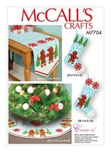 MCCALLS M7704 Stockings, Runner, and Tree Skirt Holiday Decorations - $11.65