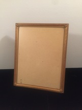 "Vintage 40s gold ornate 8"" x 10"" frame with easel back image 1"