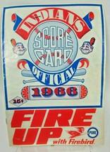 1966 Cleveland Indians Scorecard vs California - $8.83
