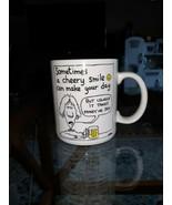 1986 HALLMARK SHOEBOX GREETINGS AHERN COFFEE MUG CHEERY SMILE MONEY OR SEX  - $17.10