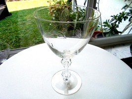 Tiffin Franciscan Stem #17679 Clear Water Goblet Multiple Avail c1960's - $25.00