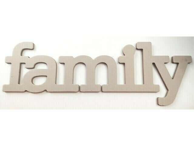 The Paper Studio Chipboard Shapes Family Word #339952