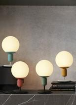 Cute Macaron Kids' Room Table Desk Lamp E27 Light Lighting Glass Globe H... - $65.00